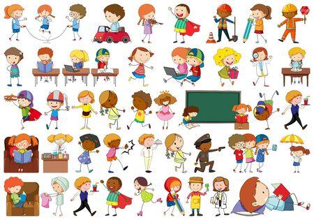 Se of simple kids illustration