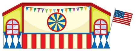 Stage design at fun fair illustration