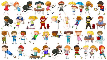 Collection of simple kids illustration Ilustrace