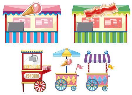 Vendors design at funfair