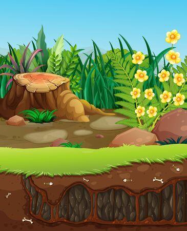 Underground hole in the garden