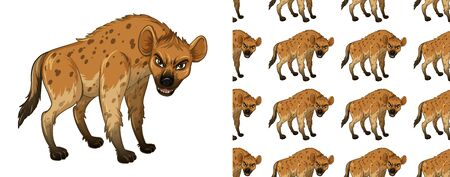 Seamless and isolated animal pattern cartoon Ilustrace