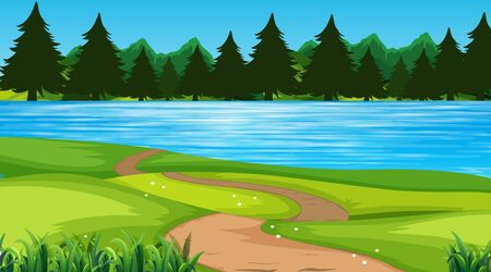 Empty background nature scenery illustration