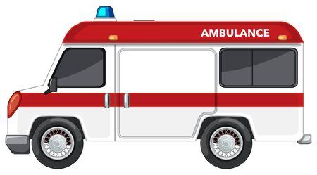 Ambulance van on white background illustration Illusztráció