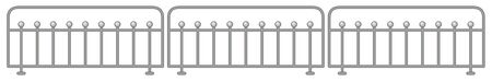 Metal fence design on white background illustration 스톡 콘텐츠 - 130165207