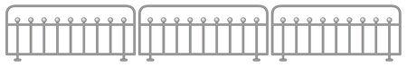Metal fence design on white background illustration 일러스트