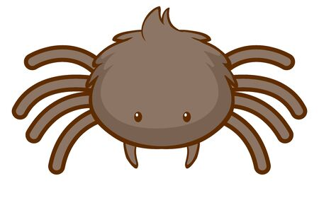 Cute spider on white background illustration Иллюстрация