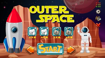 Outer space game background illustration