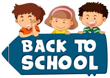 Back to school sign theme illustration Illusztráció