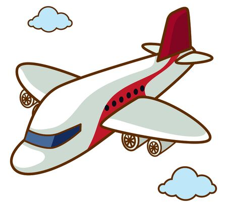 Airplane flying in the sky illustration