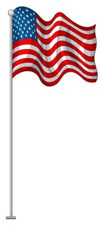 Flag design of United States of America illustration Ilustracja
