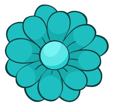 Single flower in blue color illustration Foto de archivo - 133419588