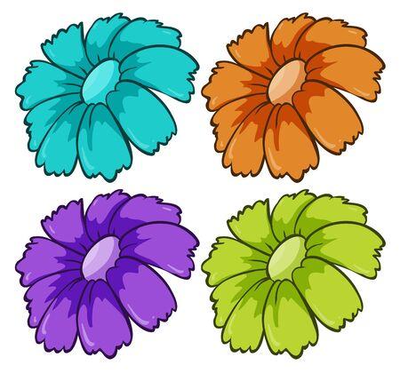 Isolated set of flowers illustration Foto de archivo - 133420073