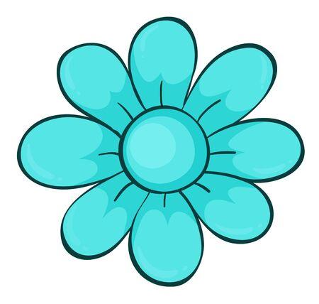 Single flower in blue color illustration Foto de archivo - 133420402