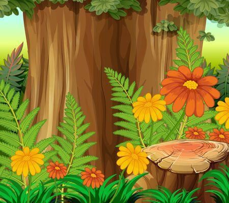 Background scene with nature theme illustration 版權商用圖片 - 134607102