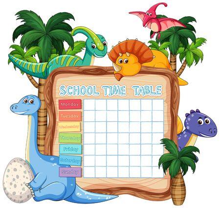 inosaur timebale for kids on white illustration