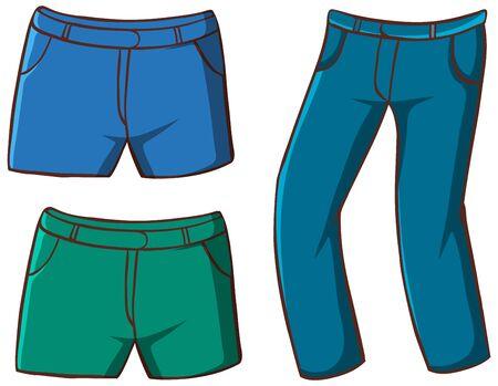 Isolated set of pants illustration