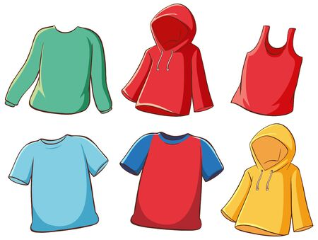 Set of isolated shirts illustration Ilustracja