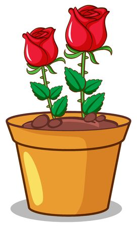 Red roses on white background illustration Stock fotó - 137863137