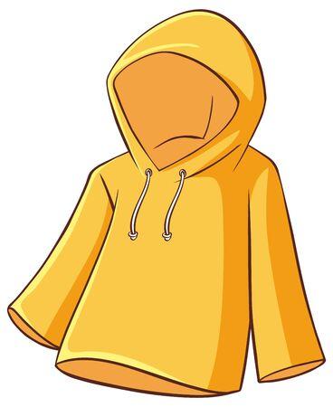 Yellow raincoat on white background illustration Archivio Fotografico - 137862533