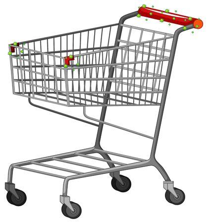One shopping cart full of coronavirus cells