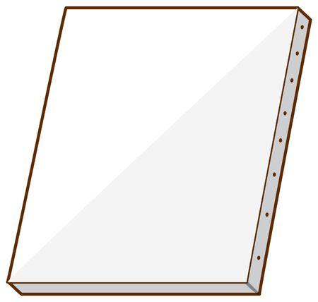 Blank canvas on white background illustration