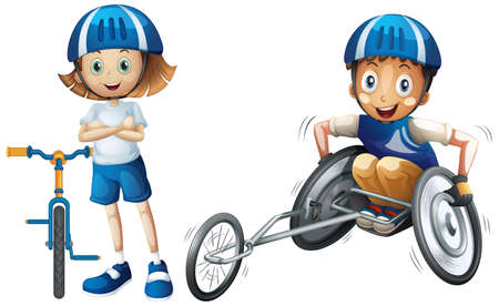 Set of wheel cartoon character illustration