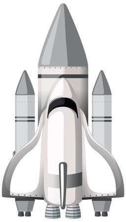 Isolated space rocket cartoon illustration
