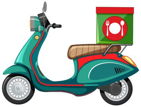 Isolated scooter cartoon on white background illustration Vector Illustratie