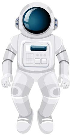 Isolated astronaut cartoon on white background illustration