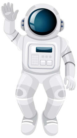 Isolated astronaut cartoon on white background illustration