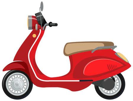 Isolated scooter cartoon on white background illustration