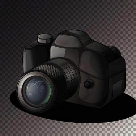 Isolated camera on transparent background illustration