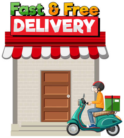 Fast and free delivery  illustration