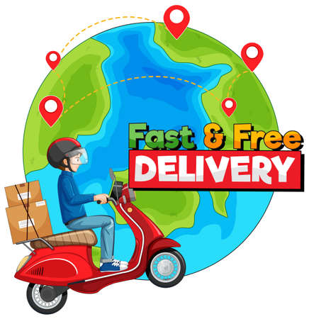 Isolated delivery icon on white background illustration