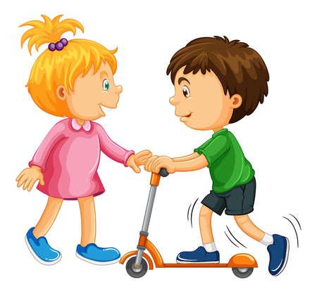 Isolated children cartoon character illustration