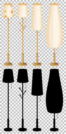 Set of lamp isolated illustration 矢量图像
