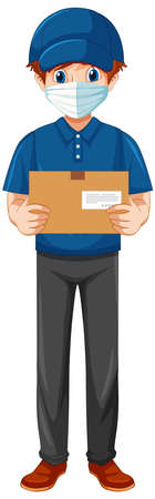 Delivery man wearing uniform illustration 免版税图像 - 161313833