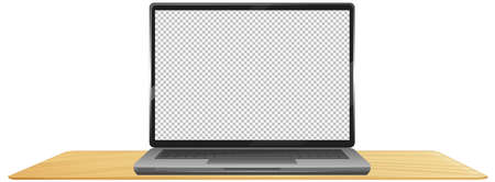 Laptop with empty background screen illustration
