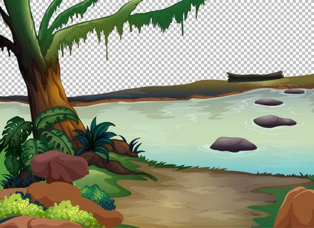 Nature outdoor landscape transparent background illustration 矢量图像