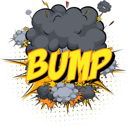 Word Bump on comic cloud explosion background illustration