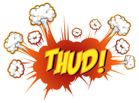 Comic speech bubble with thud text illustration Ilustracja