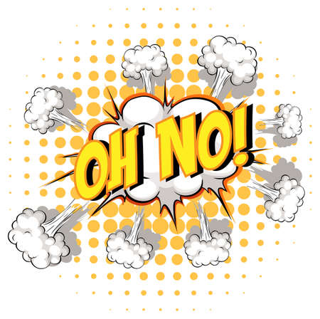 Comic speech bubble with oh no text illustration