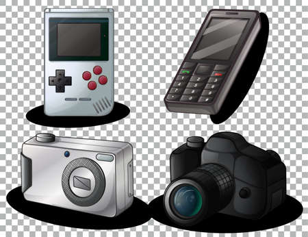 Set of old gadget