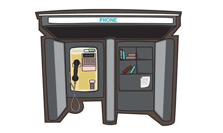 payphone: Illustrator of Payphone in a City