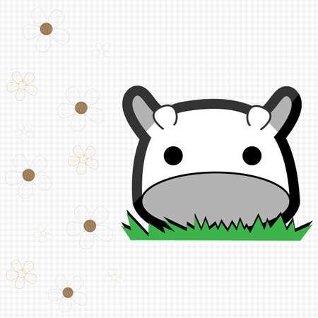 Cute little cow Vector