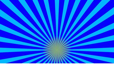 vector illustration of blue sunburst abstract background