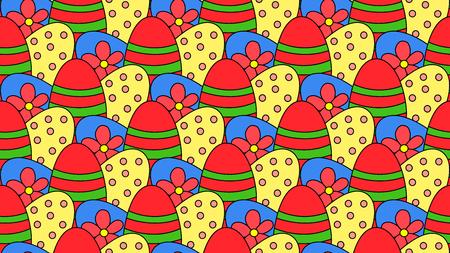 Colourful Easter egg pattern background Иллюстрация