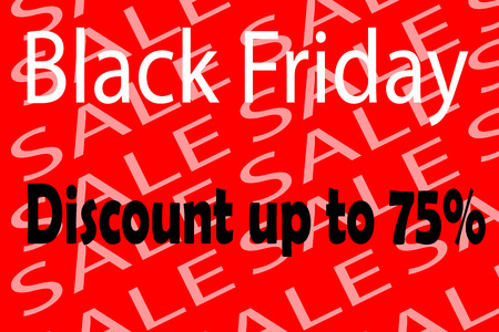 Illustration of black friday discount announcement