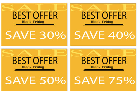 Illustration of Black Friday discount coupons